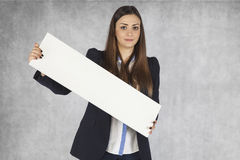Place on your advertising, beautiful businesswoman Royalty Free Stock Image