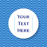 Place for your text. White circular place for your text on blue stock illustration