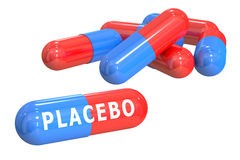Placebo concept. With capsules isolated on white background Stock Images