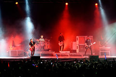 Placebo (famous rock androgynous band) live performance at Bime Festival Stock Images