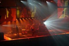Placebo im Konzert stockfotografie