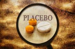 Placebo skutek pastylki Zdjęcia Royalty Free
