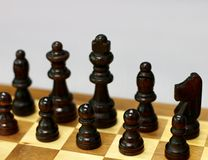 the chess pieces stock photography