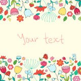 Placeholder card text flowers vector illustration Royalty Free Stock Image