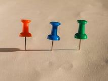 Placeholder färgat stift för kontorsbruk Royaltyfria Bilder