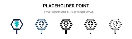 Free Placeholder Point Icon In Filled, Thin Line, Outline And Stroke Style. Vector Illustration Of Two Colored And Black Placeholder Royalty Free Stock Photos - 180523658