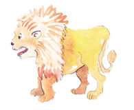 Placeholder watercolor lion. Placeholder colorfull and watercolor lion Stock Images
