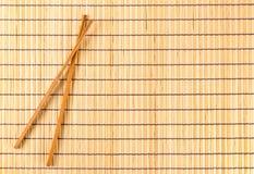 Placemat de bambu tradicional Foto de Stock Royalty Free