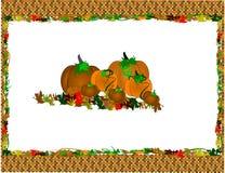 Placemat de Halloween Imagens de Stock