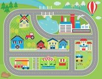 Placemat de jeu de voie de voiture Photo libre de droits