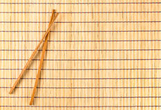 Placemat di bambù tradizionale Fotografia Stock Libera da Diritti