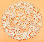 Placemat from dutch lace embroidered by needle Stock Image