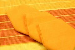 Placemat et serviettes Photo stock