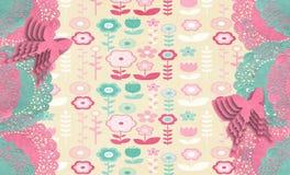 Primavera Placemat floreale illustrazione di stock