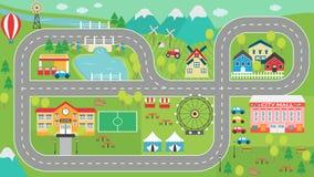 Placemat HD del juego de la pista del coche Fotografía de archivo libre de regalías