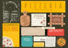 Placemat for Pizzeria Royalty Free Stock Photo