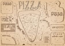 Placemat for Pizzeria Royalty Free Stock Images