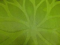 placemat w zieleni z postacią wigilia Fotografia Stock