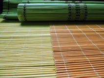 Placemats di bambù variopinto Fotografie Stock