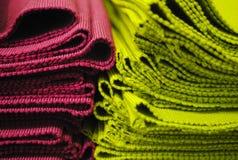 Placemats púrpuras y verdes Imagen de archivo libre de regalías