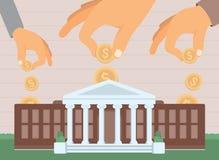 Placement d'université/investissement d'éducation Illustration Libre de Droits