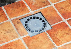 Placement of a new sump. Placement of a sump during the renovation of the courtyard of a house Royalty Free Stock Image