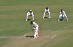 Placement pendant le match de cricket de trophée de Ranji Photos libres de droits