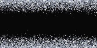 Placer границы серебряного яркого блеска широкий на черной предпосылке вектор иллюстрация вектора