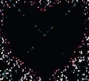 Placer покрашенных форм на черной предпосылке вектор Стоковые Изображения RF