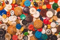 Placer старых винтажных кнопок Стоковая Фотография