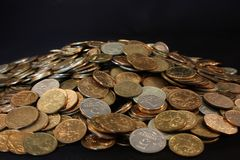 Placer coins Stock Photos
