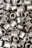 Placer connecting fittings for metal pipes. Royalty Free Stock Images