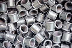 Placer connecting fittings for metal pipes. Steel castings Royalty Free Stock Image