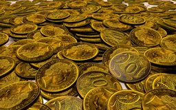Placer copper coins Royalty Free Stock Photos