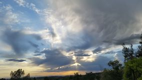 Placer County Evening Sky. The sunset over Loomis CA stock photography