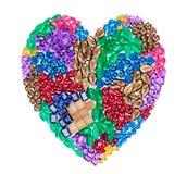 Placer de pierre gemme de mode Concept de luxe d'amour Image stock