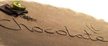 Placer del chocolate Foto de archivo libre de regalías