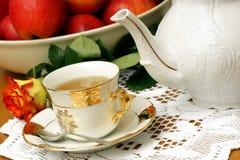 Placer del té. Imagen de archivo libre de regalías
