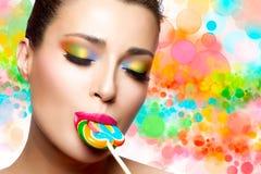 Placer dulce Maquillaje colorido foto de archivo libre de regalías