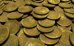 Placer gold coins Royalty Free Stock Images