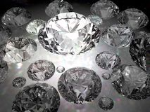 Placer jewelry. Luxury diamond rich and beautiful background Stock Photos