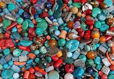 Placer koraliki półszlachetni kamienie Zdjęcia Stock