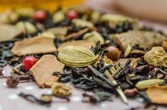 Placer macro Flavored do chá, creme do refinamento da doença imagens de stock royalty free