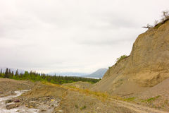 Placer mining in northern canada Royalty Free Stock Images