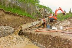 Placer mining in the yukon territories Royalty Free Stock Photos