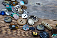 Placer of old buttons Royalty Free Stock Image