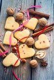 Placer Shortbread valentines, kolorowe sympatie, faborki i Fotografia Royalty Free