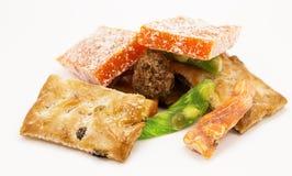 Placer turco del fondo gris de los dulces Fotografía de archivo libre de regalías