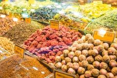 Placer turco, dulces, bazar magnífico Estambul de la tienda del caramelo foto de archivo