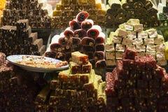 Placer turco y caramelos Imagen de archivo libre de regalías